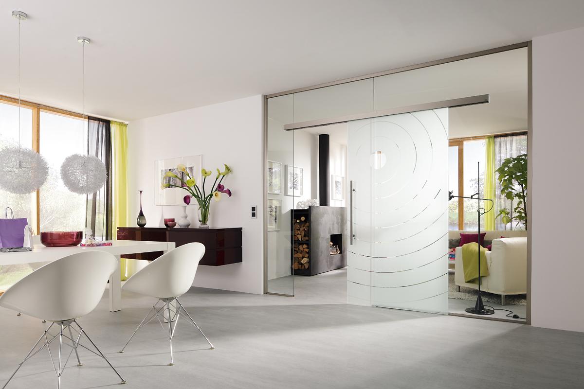 Ușă din sticlă glisantă cu feronerie Dorma MUTO DRM 11
