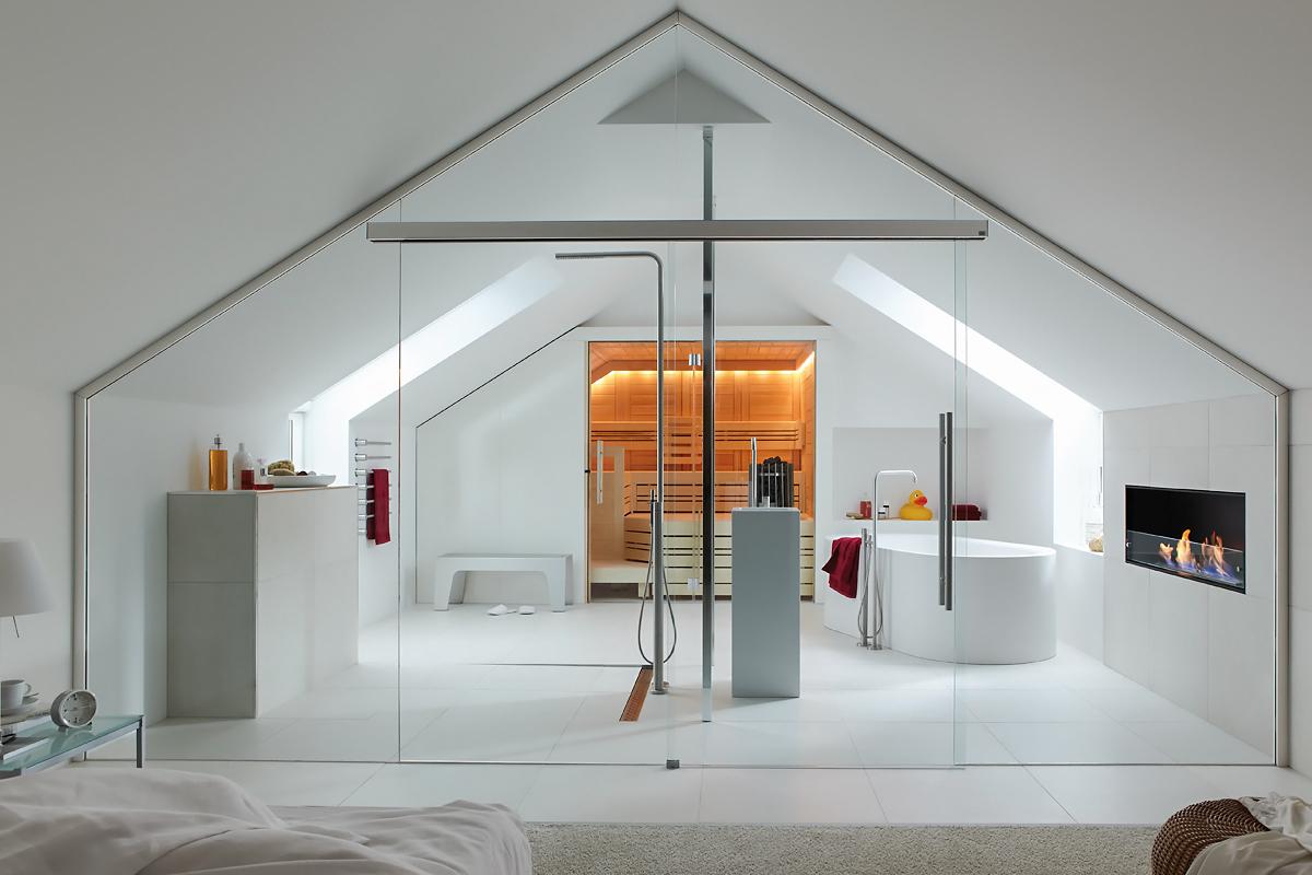 Ușă din sticlă glisantă cu feronerie Dorma MUTO DRM 06
