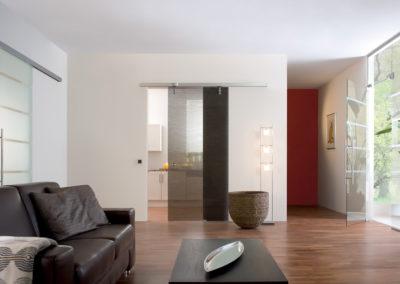 Ușă din sticlă automată cu feronerie Dorma Magneo DRM 02