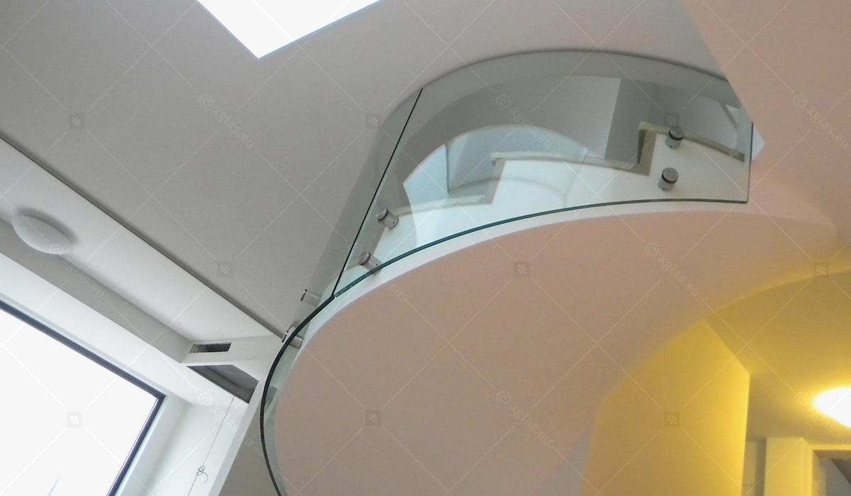 EVOLAM CONTOUR Laminated Curved Glass Railings