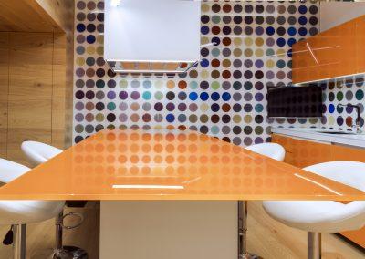 Blat din sticlă și placare perete pentru mobilier bucătărie GEX 03