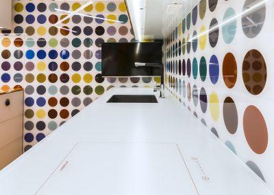 Blat din sticlă și placare perete pentru mobilier bucătărie GEX 01