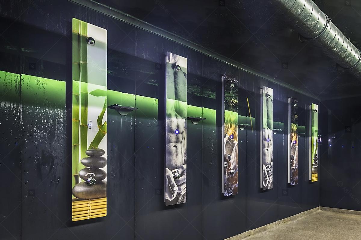 Fitness Lounge Showers Panels