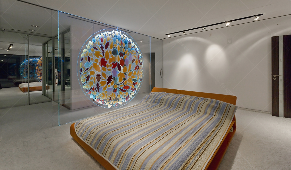 Casa H - EVOLAM T Sticlă Laminată Partiție cu LED