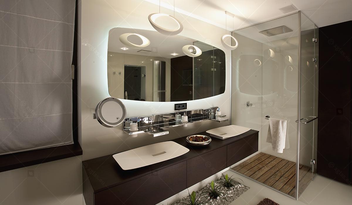 Casa H - Oglindă cu degivrare și Cabină de Duș