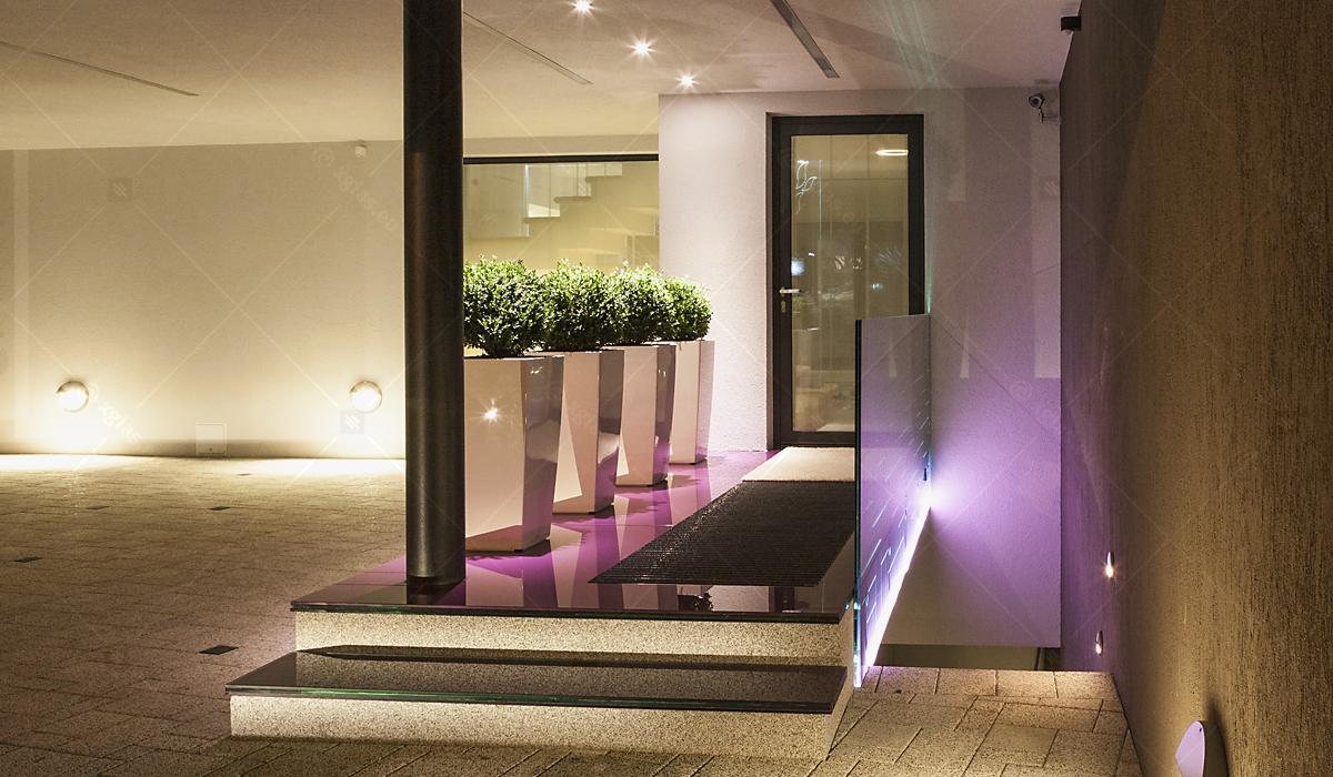 Casa H - EVOLAM Sticlă Laminată cu LED, Balustradă