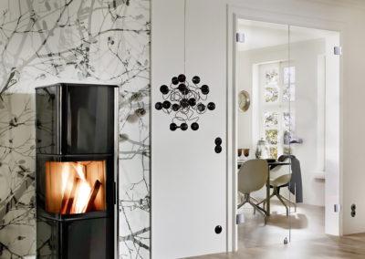 Ușă din sticlă cu inchidere pe toc aluminiu cu feronerie Dorma Studio Arcos DRM 01