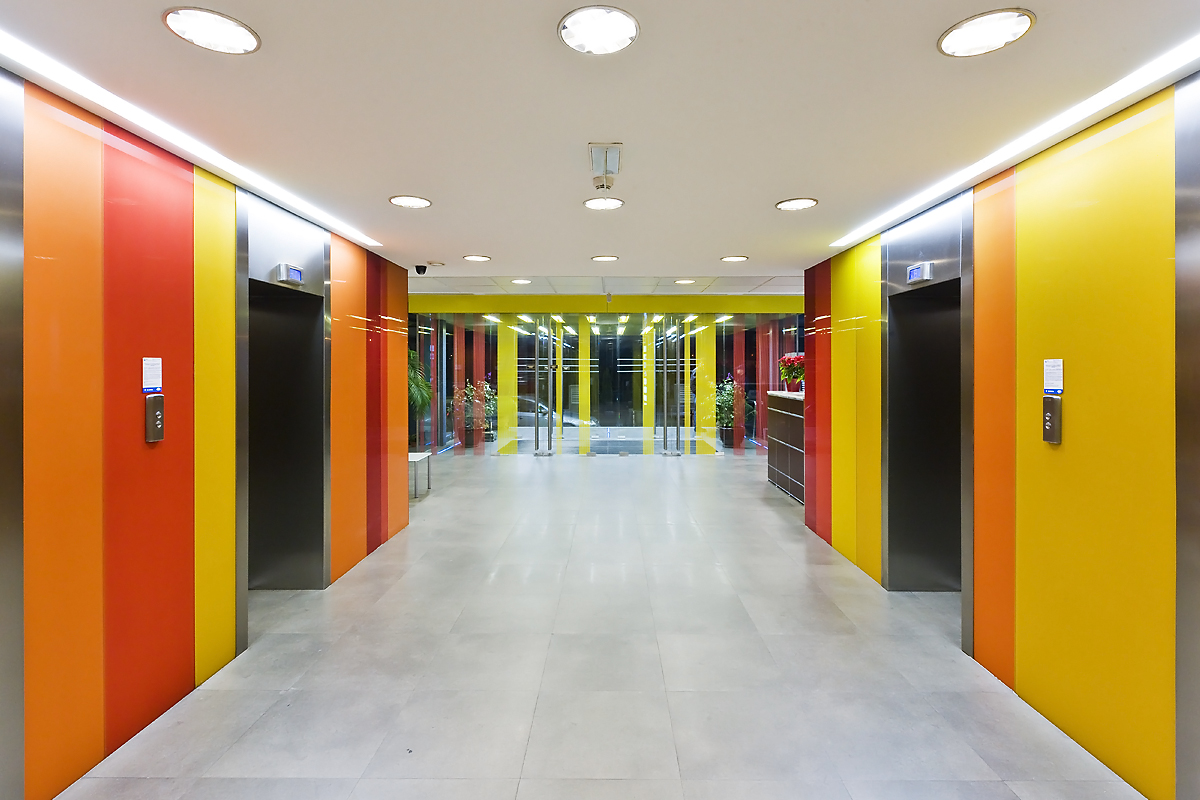 Placare cu sticla colorata portocaliu Conect
