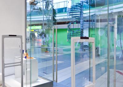 Ușă din sticlă cu amortizor în pardoselă Dorma Universal SPLZ  01
