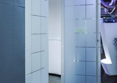 Ușă din sticlă cu amortizor în pardoselă Dorma Universal MERC 01