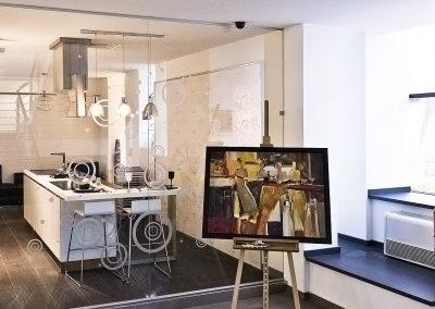 Compartimentare sticlă pentru bucătărie Delta 02