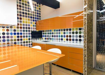 Blat din sticlă și placare perete pentru mobilier bucătărie GEX 04